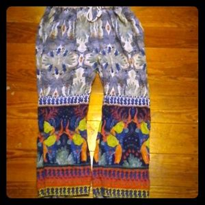 Pants - Hippie boho festival drawstring pants size medium